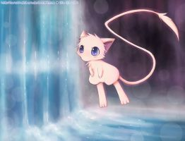 Mew :: Waterfall by sunshineikimaru