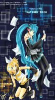 vocaloid rin and miku by chiPencil