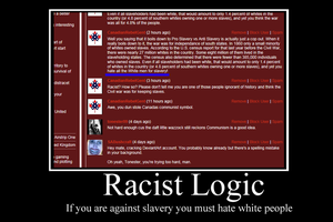 Racist logic demotivator by Party9999999