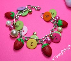 happy strawberries bracelet by tinkypinky