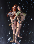 Red Sonja and Ayla - the Lights by Vad-mig-orolig