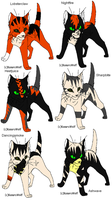Warrior cat adoptables 28-OPEN by Shadowpaw909