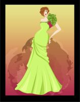 green gown by Kamame