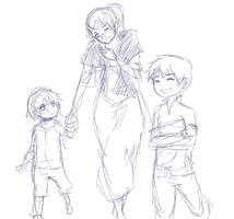 sketch: Sisa, Crispin and Basilio by choco-java