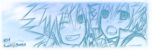 KH: Sora and Roxas by yoruven