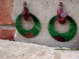 Of Earth Earrings (sold) by ArtLoDesigns