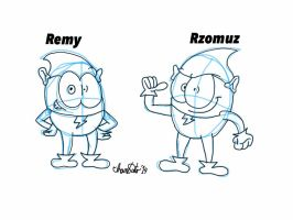 Rzomuz And Remy by TheIransonic