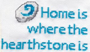 World of Warcraft hearthstone - Cross stitch by MinaThomas