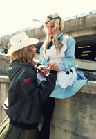 Fem!UsUk Cosplay #1 - Our special relationship by YamiMana
