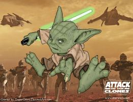 Action Yoda by SuperColors