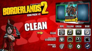 Borderlands2 Icon Pack3 - CLEAN by mentalmars