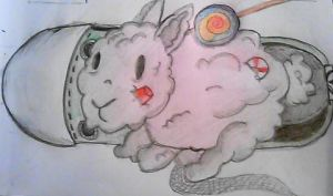 6/712 2015 Drawing Challenge: Dust Bunny by Kristina-Henderson