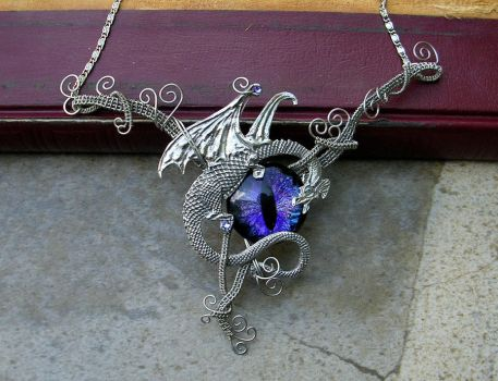Wire Wrap - Dragon with Super Color Shift Eye by LadyPirotessa