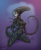 She-Alien by marimoreno