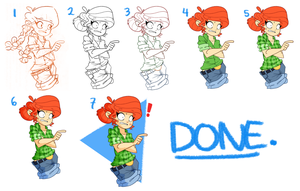 Step-by-step drawing process by GusDraws