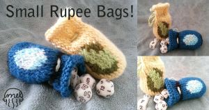 Small Rupee Bags by pickletoez