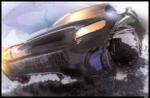 Sketches 285 - Car Speed Paint by Falcon-
