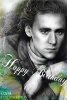 Tom Hiddleston!Happy birthday by JUN-KAMIJO