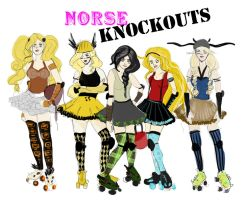 HTTYD Roller Derby Team 1 by ch4rms