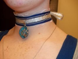 For Sale: Blue Ribbon Choker by Shewen