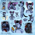 FNAF OC Hyper the Hyena by TangledMangle