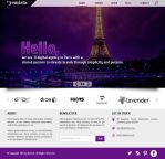 Free Digital Agency Website Template with PSD File by kashifmughal