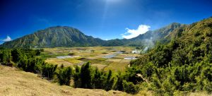 rice fields in the midle of mountain by majiera