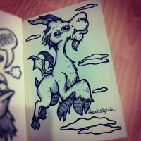 Winged Goat by GalactikCaptain