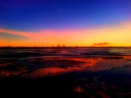 sunset on the ice. by JMS296