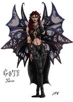 Gothic Fairie by ballz1975 by carol-colors