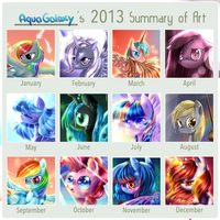 AquaGalaxy's Art summary meme by AquaGalaxy