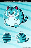 Squishable Teal Tiger design by Neon-Juma