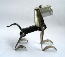 Boots - Robot Dog Sculpture by adoptabot