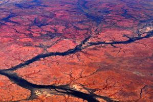 Flying over central Australia 4 by wildplaces