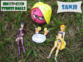 Sanji Emoticon Stress Balls by ZeroBR