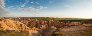 Badlands National Park - HDR Panorama II by aeroartist