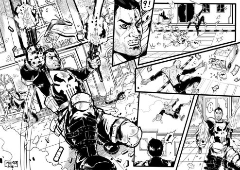 Comic script Spiderman VS Punisher by THEGUM90