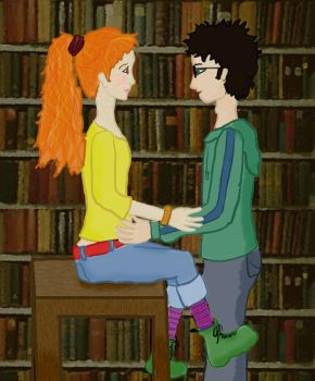 Flirting in the Library by AnyLastRequests