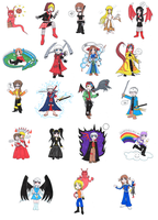 Chibi Cutouts SESSION 1 by indubitanter