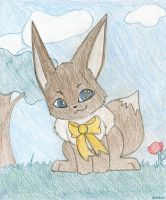 Honey Bow'd Eevee by Panthen