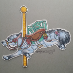 Rafsca carousel badge commission by nightspiritwing