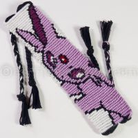 Espeon 1.25 inch Friendship Bracelet by CarrieBea