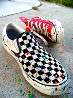 painted shoes. by playradioplay