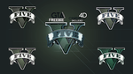 GTA V - NEW logos - 5 logos and 3d file by fxchannelhouse