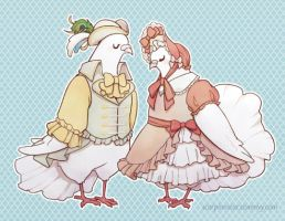 fancy pigeons by tea-and-dreams