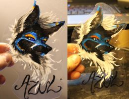 NEW ALL PAINT BADGES - Azul by Kloofcat
