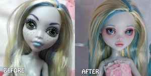 MAKE-UP: LagoonaBlue 01: Before and after by Syney