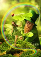 Saint Patrick and fairy by Vladlena111