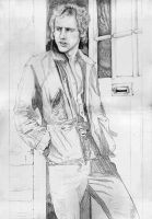 Mark Knopfler Rock and Pop Dire Straits SKETCH by Yankeestyle94
