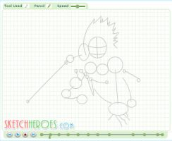 How to Draw Sasuke Part 1 by SketchHeroes